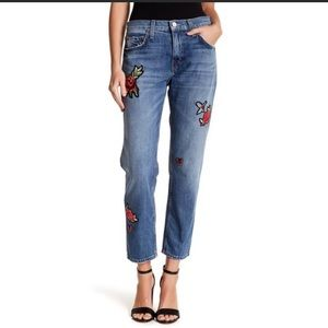 Joie embroidered jeans